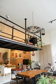 industrial interior design den loft the perfect man cave
