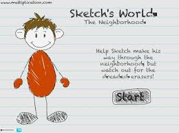 sketch u0027s world multiplication free online math game