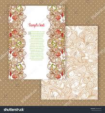Floral Invitation Card Designs Two Invitation Card Design Italian Pasta Stock Vector 254835925