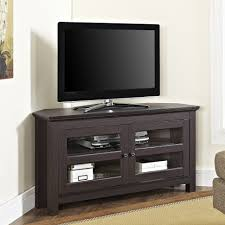 Tall Corner Tv Cabinet Tv Stands Walker Edison Black Tv Stand For Tvs Up To