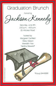 graduation lunch invitation wording designs clasic graduation dinner party invitation template with