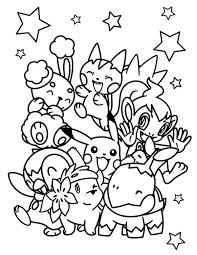 pokemon chiby characters coloring pages bulk color