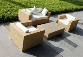 Rattan Table L Furniture Chic Garden Furniture Decor With Square Rattan Ottoman