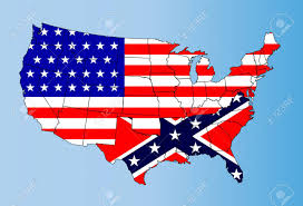 Confederate Flag Clip Art An Outline Map Of Theunited States Of America Showing The