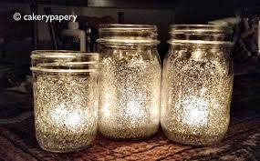 jar candle ideas festive diy glitter jar candles cakerypapery