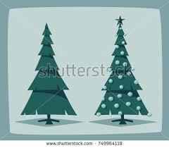 merry tree decorations vector stock vector