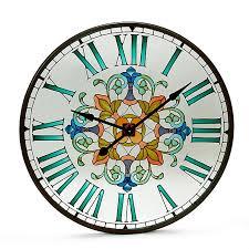 horloges cuisine séranan horloge murale en verre et métal d90cm horloges cuisine