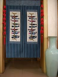 Door Way Curtains Noren Iwashi Fish Japanese Doorway Curtain Traditional By