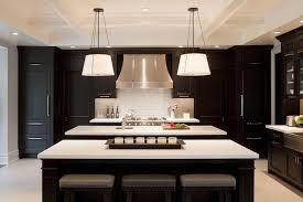 Black Cabinets White Countertops Coffered Kitchen Ceiling Contemporary Kitchen Tamara Magel