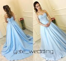 light blue formal dresses baby blue ball gown prom dresses sweetheart ribbon sash corset lace