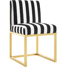 Black And White Striped Dining Chair Tov Furniture Tov D41 Haute Accent Chair In Paris Black U0026 White