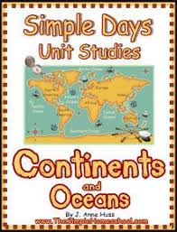 continents u0026 oceans lapbook continents ocean and social studies