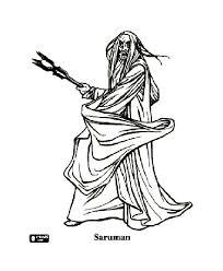 seigneur des anneaux saruman coloriage le seigneur des anneaux