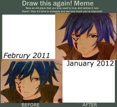 Fairytail Memes - draw this again meme mystogan fairy tail x3 by martha1101 on