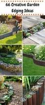 watch how he puts in this easy no dig border to landscape his yard