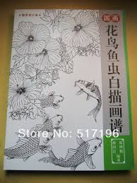bird flower fish butterfly insect outline chinese painting tattoo