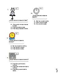 telling time in spanish worksheet or dialogue activity by gina ortiz