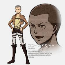design attack attack on titan guys images connie springer character design