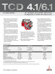tcd 4 1 l4 engine for industrial applications deutz pdf