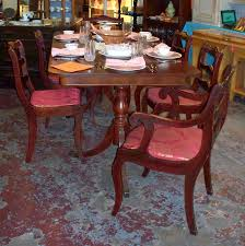 Duncan Phyfe Dining Room Table And Chairs Duncan Phyfe Dining Room Chairs Pedestal Dining Table With