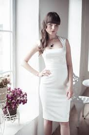 fitted style short wedding dress sang maestro