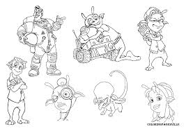 planet 51 coloring pages