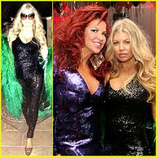 new years jumpsuit fergie rocks sparkling jumpsuit at slash s new year s party