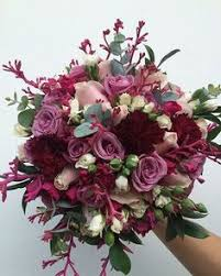 Burgundy Flowers Autumn Wedding Flowers With Burgundy Details Fall Wedding