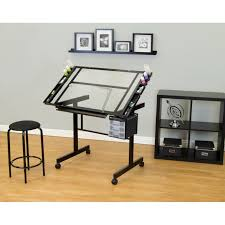 Large Drafting Tables Office Glass Office Desk Ideas Using Transparent Compact Glass