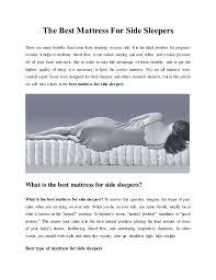 best mattress for side sleeper the best mattress for side sleepers 1 638 jpg cb 1426724157