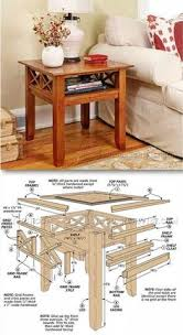 Making Wooden End Tables by This Table Is Easily Stored And Brought Out When Guests Visit