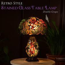Antique Double Desk Lamp Decorplus Rakuten Global Market Stained Glass Style Table Lamp