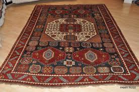 Octagon Rug 6 Antique Caucasian Rugs Kazak Old Persian Handmade Rugs