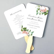 petal fan programs template fan template for wedding program