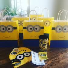 minion gift bags despicable me minion birthday party goodie bags my own version
