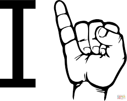 asl alphabet american sign language coloring pages free