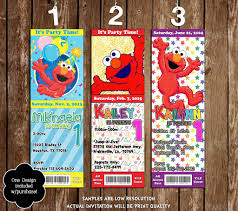 elmo birthday party novel concept designs elmo birthday party ticket invitation