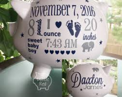 customized piggy bank baby personalized piggy bank etsy