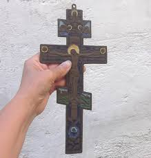 crucifixes for sale vintage russian orthodox brass crucifix vintage wall by tesorus