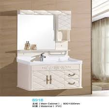 bathroom vanity with side cabinet china high quality pvc wall mounted bathroom vanity with side