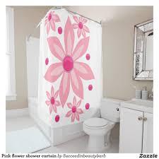 Pink Flower Shower Curtain Pink Flower Shower Curtain Shower Curtains Pinterest Flower