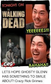 Grimes Meme - tonight on walking dead yeeeeees ocrazy rick grimes bahaha lets