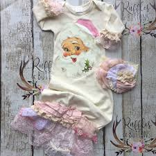 country chic christmas gown set vintage santa baby