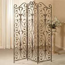 ashville metal room divider screen inside wrought iron dividers