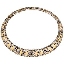 steel choker necklace images Bulgari alveare gold choker necklace for sale at 1stdibs jpg