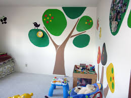 wonderful image of awesome kid bedroom decoration using lime green minimalist awesome kid bedroom decoration using large green tree bedroom wall mural including light blue gray