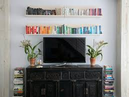 Colored Bookshelves by Living Room Mini Floating Shelves Thick Wood Floating Shelves