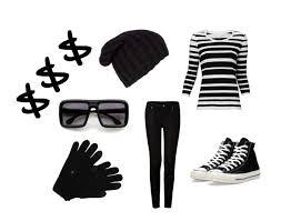 Black White Striped Halloween Costume Minute Halloween Costumes 5 U00273