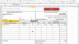 excel sales receipt template gst invoice template in excel for purchase and sales youtube gst invoice template in excel for purchase and sales