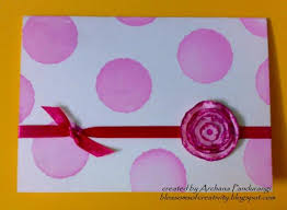 pink and white color how to make handmade greeting card trendy